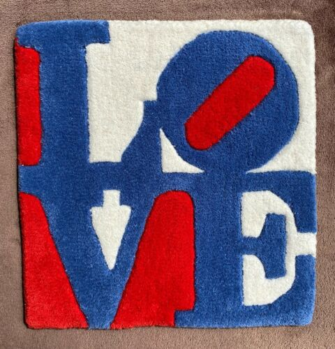 """Robert Indiana: """"CZECH LOVE"""" rug, exclusive edition, numbered, pop art ICON, new"""