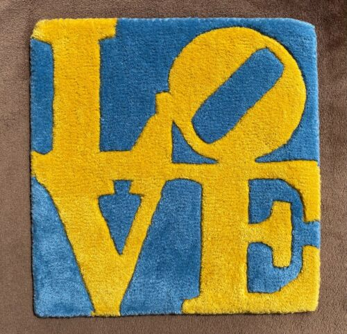 """Robert Indiana: """"SWEDISH LOVE"""" rug, exclusive edition, numbered, pop art ICON"""