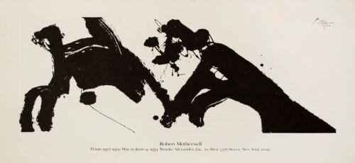 Robert Motherwell: Prints 1977-1979. Rare, Offset Lithograph, Exhibition Poster.
