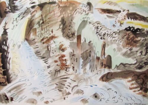 ANDRE MASSON - LE TORRENT  - VERVE LITHOGRAPH - 1952 - FREE SHIP IN THE US !!!