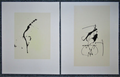 ROBERT MOTHERWELL - TWO (2) ORIGINAL LITHOGRAPHS # 3 - 1987 - FREE SHIP IN US !!