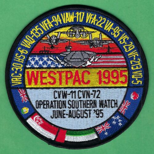 CVN-72 USS ABRAHAM LINCOLN OPERATION SOUTHERN WATCH WESTPAC 1995 CRUISE PATCHOriginal Period Items - 10953