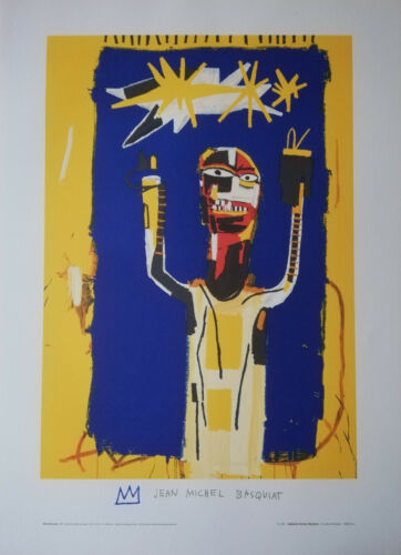 LITHOGRAPHIC PRINT AFTER JEAN-MICHEL BASQUIAT WELCOMING JEERS 1997 ARCHES PAPER