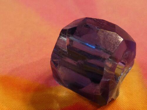 ANTIQUE RARE FACETED RUSSIAN BLUE SAPPHIRE WORLD TRADE BEAD 8.3-7.0 MM LAST ONE