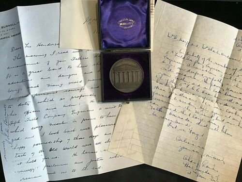 1900 ROYAL VICTORIAN INSTITUTE OF ARCHITECTS MEDAL LIEUT COLONEL W.A.HENDERSON Other Eras, Wars - 135