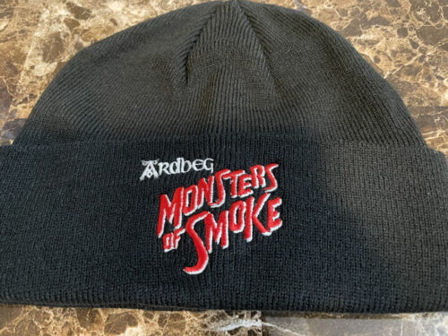 ARDBEG SCOTCH WHISKY MONSTERS OF SMOKE WINTER BEANIE HAT IMPOSSIBLE TO FIND NEW