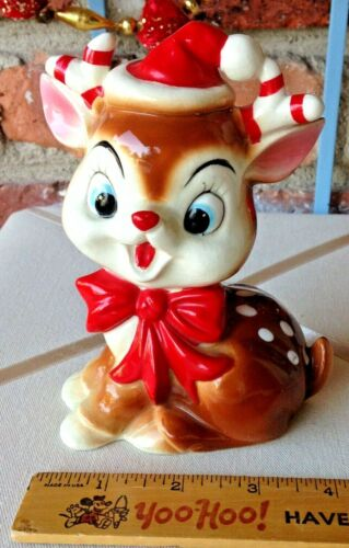 You Can Bank On This Vintage Porcelain Christmas Rudolph The Red-Nosed Reindeer!