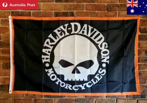 Harley Vintage Flag 150x90cm Softail Sportster breakout mancave collectable 🏴