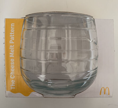 McDonald's 50 Years Wobbling Glass The Cheese Melt Pattern Maccas 2021 380ml Cup