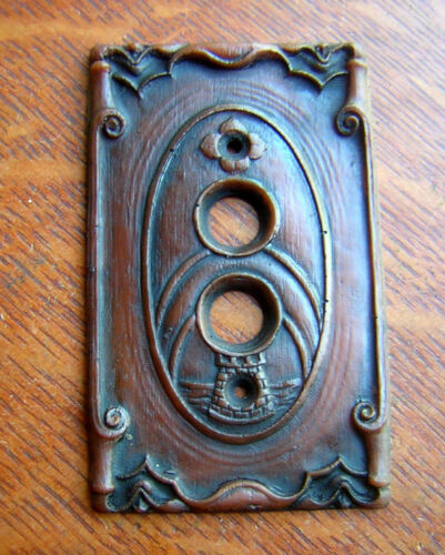 """New """"Storybook Castle"""" Push Button Light Switch Plate"""