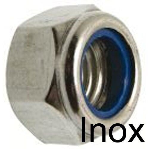 ECROU FREIN NYLSTOP - INOX A2 - indesserrable M8 (10)