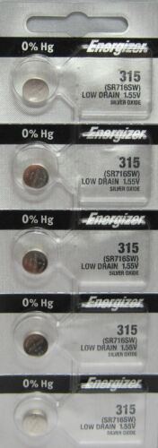 315 ENERGIZER WATCH BATTERIES 5 Pk