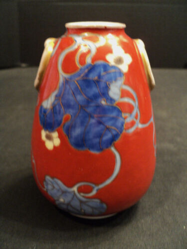 "BEAUTIFUL 19th C. JAPANESE ""FUKAGAWA"" PORCELAIN VASE"