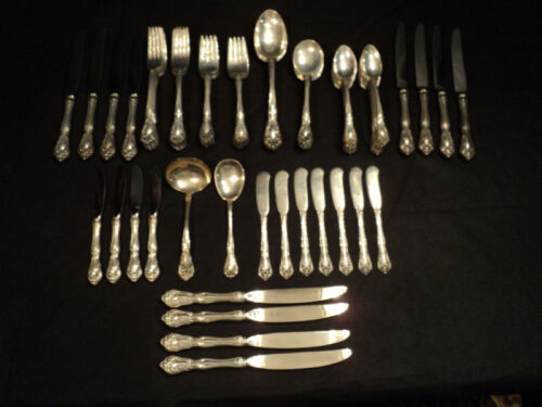 "ALVIN ""CHATEAU ROSE"" STERLING SILVER FLATWARE (81 pieces) - NO MONOGRAMS"