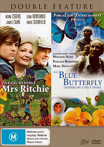 THE INCREDIBLE MRS RITCHIE & THE BLUE BUTTERFLY (TRUE STORY) - 2 MOVIES DVD