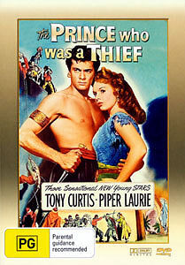 Tony Curtis Piper Laurie THE PRINCE WHO WAS A THIEF DVD