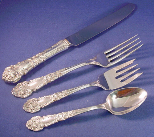 FRENCH RENAISSANCE - REED & BARTON 4 PIECE STERLING PLACE SETTING(S)