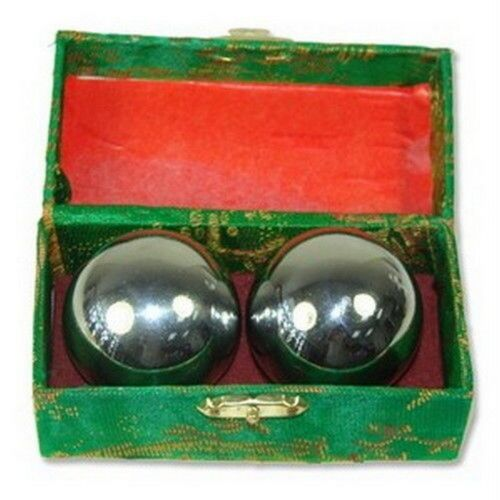 Baoding Balls Chinese Health Exercise Stress Relief Chrome Color C12266 S-3297