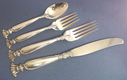 Romance Of The Sea-Wallace Sterling 4-PC Dinner Place Setting(s)