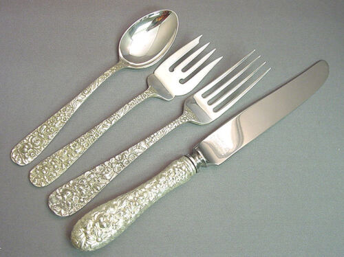ROSE - STIEFF STERLING 4 PIECE PLACE SETTING(S)   *FRENCH BLADE*