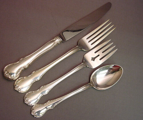 FRENCH PROVINCIAL-TOWLE STERLING 4 PC PLACE SETTING(S)-FRENCH BLADE