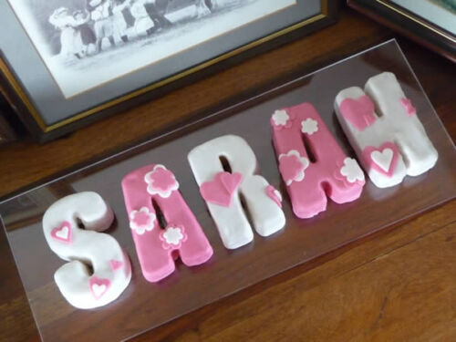 Alphabet LETTERS - Personalised Cake Words Pan Silicone Bakeware Mould Mold Tin