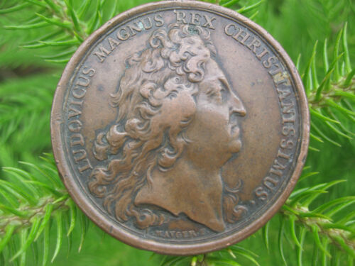 France - Louis XIV – French Copper/ Bronze Medal, 41mm, 1693