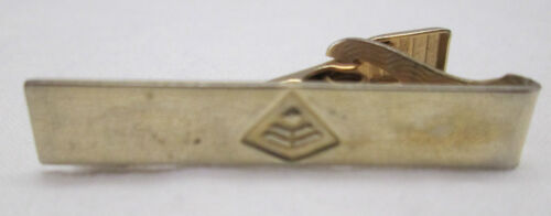 Vintage Military Service Mens Tie Clip Bar Clasp Gold Tone Other Militaria - 135