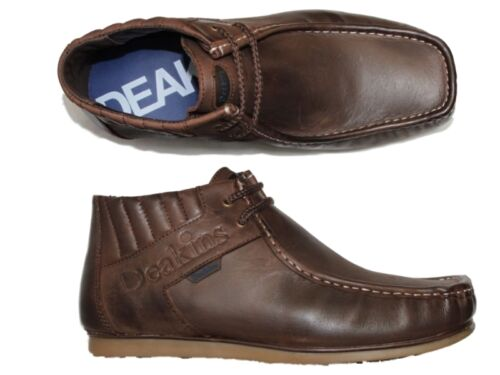 New Mens Nicholas Deakins Feist Leather Boots Brown Coffee All Sizes