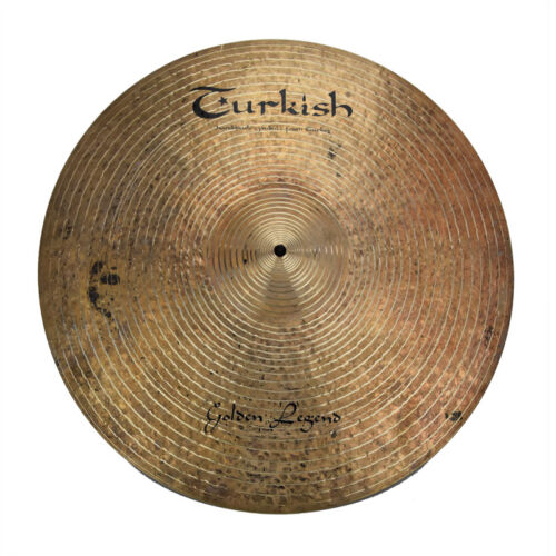 "TURKISH CYMBALS Becken 21"" Ride Golden Legend bekken cymbale cymbal 3287g"