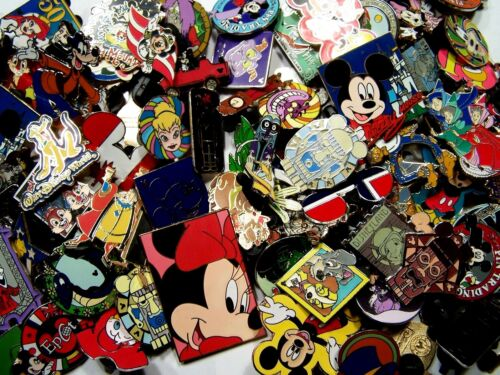 DISNEY PINS 125 PIN mixed lot FASTEST SHIPPER IN USA FREE shipping 100% tradable
