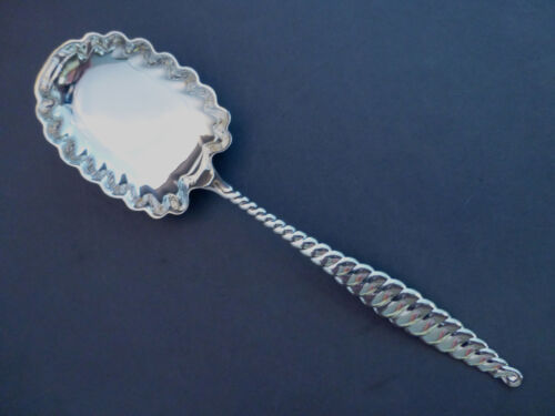 """OVAL TWIST-WHITING STERLING BERRY SPOON-9"""" MONO'D S"""