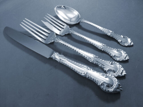 English Gadroon - Gorham Sterling 4 pc Dinner Place Setting(s) French blade