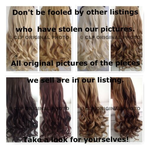 UK SELLER Synthetic Clip In Hair Extensions Thick Half Head 1pc Like Real Hair