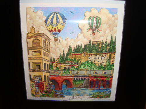 Romeo Y Julieta Humidor with Charles Fazzino 3-D Giclee Print Signed & Numbered