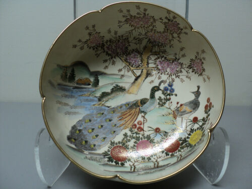 19th C. ANTIQUE JAPANESE SATSUMA POTTERY BOWL, MEIJI PERIOD (1868-1912)