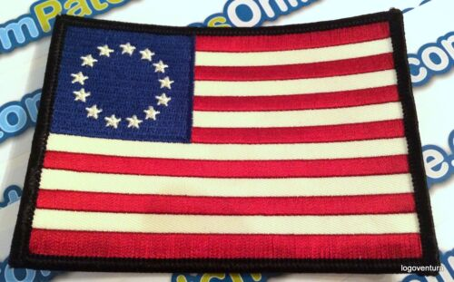 Betsy Ross American 1776 USA Flag Embroidered Patch with Full Stars Iron onReenactment & Reproductions - 156378