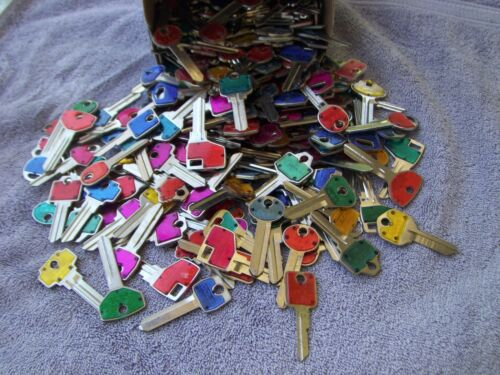Lot of Misc 6+ lbs COLE Key Blanks    UN-CUT Made in USA Silver color