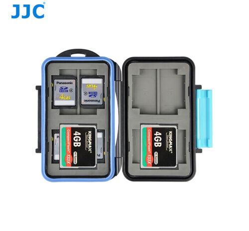 Water-resistant Memory Card Case Storage Holder fit 4x CF +8x SD SDHC SDXC Cards