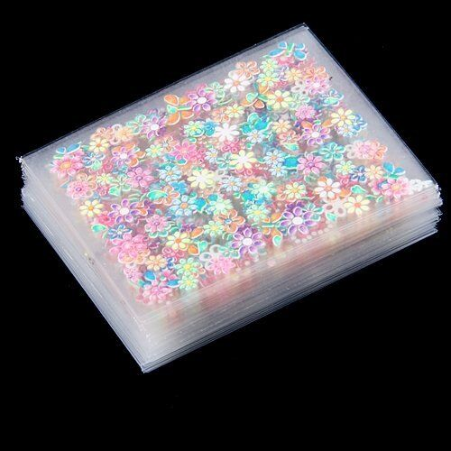 50 Sheets Colorful Nail Art 3D Stickers Design Manicure Decal Decorations Hot