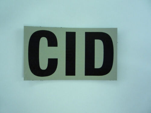 """CID PATCH SOLAS+CARBON BLK 4 1//4/"""" X 2 1//8/"""" COLL#201 WITH VELCRO® BRAND FASTENER"""