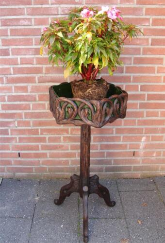 Top Antique Black Forest carved jardiniere plant stand Brienz Switserland 19th C