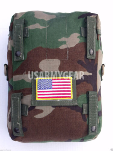 New Made in USA Military Army Molle 2 Woodland Camouflage Sustainment Pouch GearPouches - 70991
