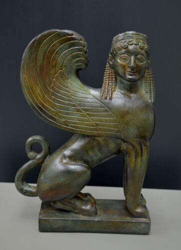 Sphinx great statue Ancient Greek aged sculpture artifact