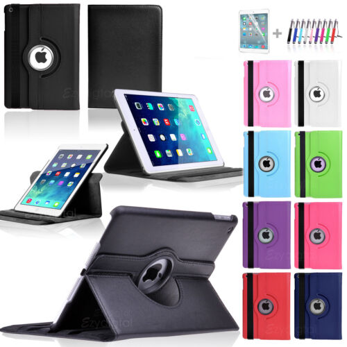 360°Rotating Smart Flip Leather Case Cover For New iPad Mini 3 3rd Gen
