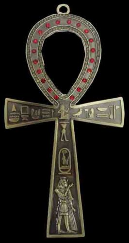 """Ankh 7""""  brass egyptian wall hanging hand made engraved key of life egypt   213"""