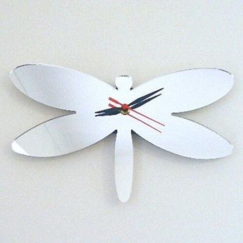 Dragonfly Mirrored Clock