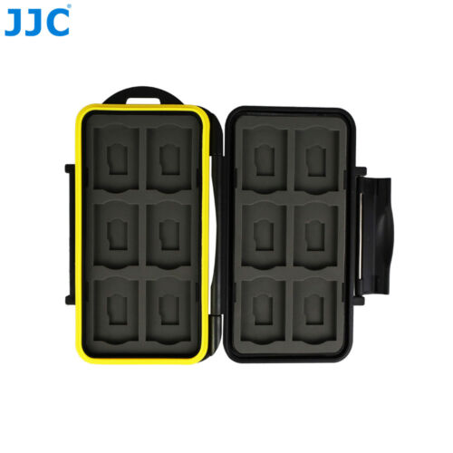 JJC Water-resistant Memory Card Case Storage Holder fits 12 SD+12 Micro SD Cards