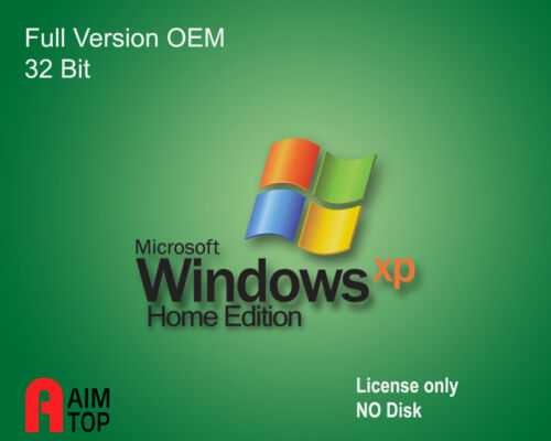 MS Windows XP Home Edition SP3 Licence only NO CD Sold with Computer System Only