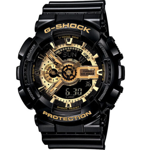 Casio G-Shock Analogue/Digital Mens Black/Gold Watch GA110GB-1A GA-110GB-1ADR <br/> 3% OFF YOUR PURCHASE! USE CODE POTTER3 AT CHECKOUT